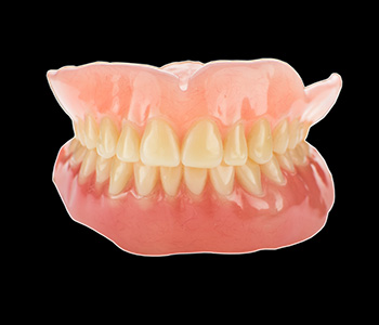 What are dentures made of in Carrollton area