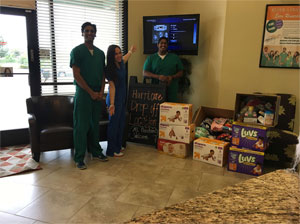 Dr. Saleem at Donations Given For the Victims of Hurricane Harvey